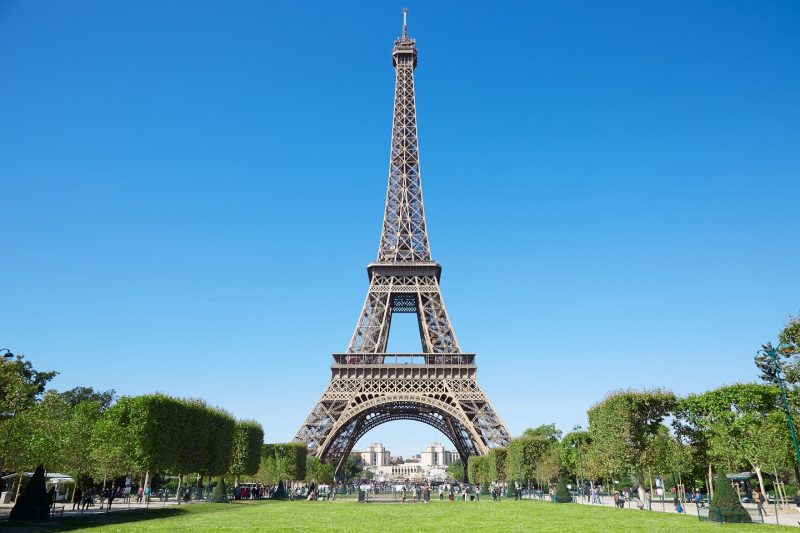 Eiffel Tower, which is made of wrought iron