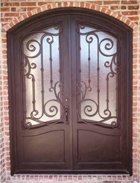 wrought iron door