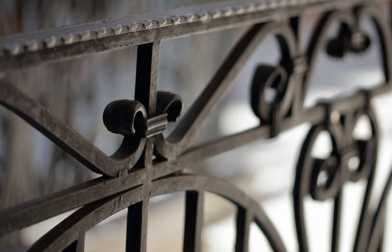 Wrought iron railings and handrail